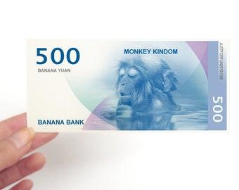 monkey money bill chinese new year chinese zodiac animal personalized lucky birthday gift for - Chinese New Year 1980