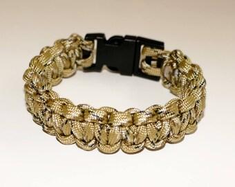 Desert Camoflage Paracord Bracelet 550 9.25 Inches