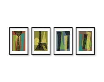 BOULEVARD SET no.1 - Giclee Print - Mid Century Modern Contemporary Modern Abstract Modernist Art