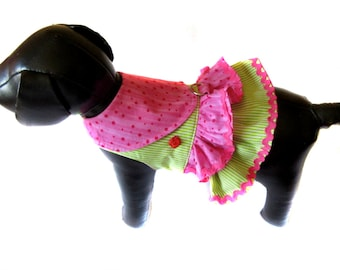 dog harness, small dog harness, ruffle dog harness, chihuahua harness, yorkie dog harness