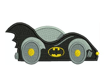 BATMAN Car Machine Filled Embroidery - Instant Digital Download