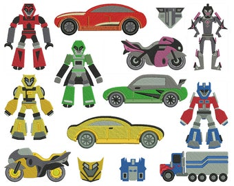 TRANSFORMERS - Machine Filled Embroidery - Patterns - Instant Digital Download