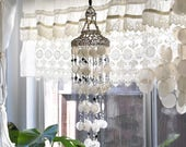 capiz sea shell wind chime mobile / seashell chandelier / ocean beach house decor