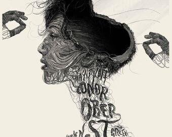 Conor Oberst Greek Theatre Show Screenprint Poster
