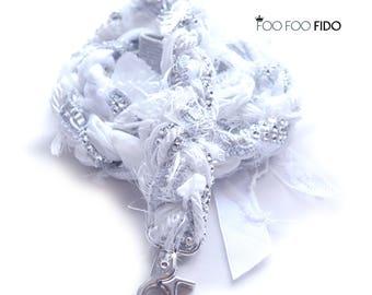 Fancy Wedding Pet Leash, Bridal Party, Pet Wedding Attire, Dog Wedding Accessories by Foo Foo Fido