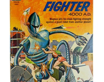 MAGNUS ROBOT FIGHTER 4000 A.D., No. 3 - Vintage Gold Key Comic Book, August 1963