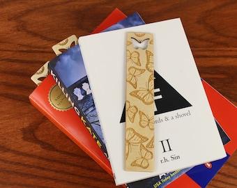 Butterfly Bookmark, Cutout Bookmark, Wooden Bookmark,  Russian Birch, Laser engraved, Paul Szewc