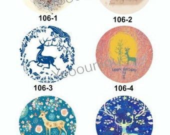 New Collection - 12mm/20mm/25mm/30mm  Deer Handmade Photo Glass Cabochon CPC106