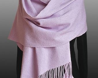 Handwoven bouclé scarf/wrap