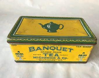 Vintage Banquet Tea Tin