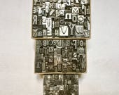 Letterpress Alphabet in a Box Choose Your Size for Altered Art Printing Stamping Mixed Media Collage