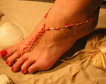 Barefoot Sandals - BOHO Barefoot Sandals - Bohemian Sandals - Barefoot Bride Gift - Beach Wedding - Bridal Barefoot Sandals -The Katelyn HF6