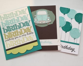 Masculine birthday card set