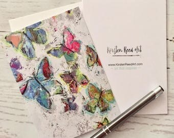 Butterfly Note Cards, art print stationery
