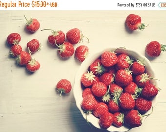 Kitchen Art food photography: Strawberry Fine Art Photography Red Art for Kitchen Strawberries Fruit Still life photography Fruit Print