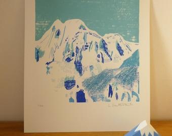 Mountain Screen Print