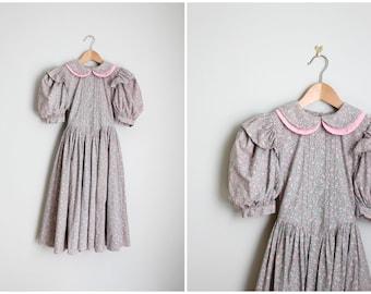 vintage handmade girls dress - Halloween costume dress (1)- 3 available / Mori Girl dress - fairy tale dress / pastel calico girls dress