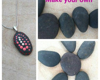 Blank rocks ready to paint, Painted rocks for DYI crafts, Make your own rock jewelry,