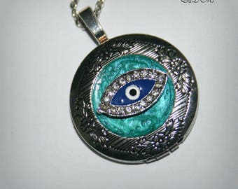 Picture locket, pendant for picture evil eye (p\)