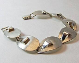 Felchcraft Sterling Silver Modernist Link Bracelet