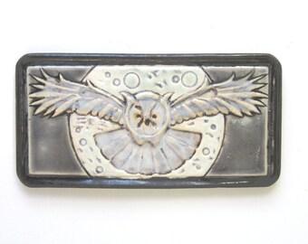 Night Owl Arts and Crafts MUD Pi handmade 4x8 ceramic tile
