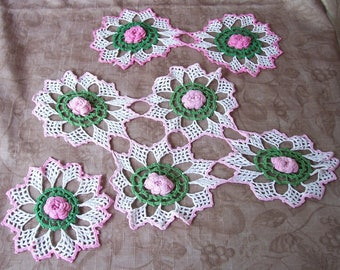 Vintage set of three matching doilies.  T835-.75.