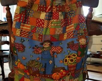 Fall Themed Drawstring Backpack