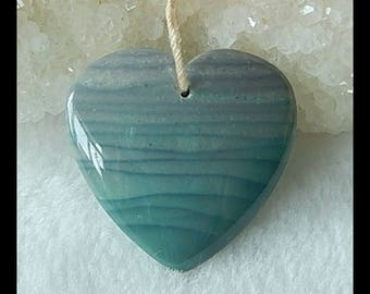Carved Wave Jasper Heart Pendant Bead,25x24x7mm,5.3g(f0776)