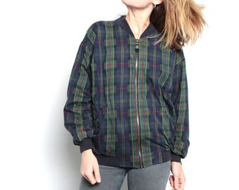 90s nirvana GRUNGE plaid FLANNEL oversized jacket coat