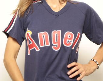 vintage CALIFORNIA ANGELS mlb BASEBALL 80s soft vintage t-shirt