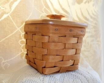 Longaberger, Basket, Small Square, Spoon Basket