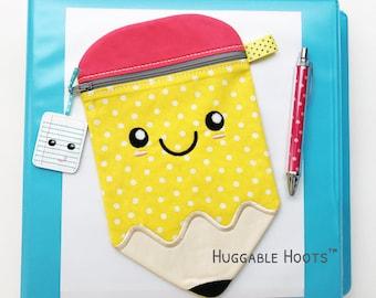 Kawaii Pencil Bag - Large Pencil Pouch - Personalized Kids Bag - Back to School - Kawaii School Supplies - Teacher Gift - Childs Pencil Bag