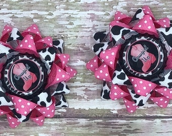 Cowgirl Bow, Cowgirl Hair Bow, Cowgirl Hair Clip. Girls Hair Clip, Girls Hair Bows, Hair Bows, Cowgirl Up, Loopy Bows, Pigtail Bows