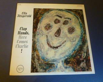 Ella Fitzgerald Clap Hands Here Comes Charlie! Vinyl Record LP V6-4053 Verve Records 1961