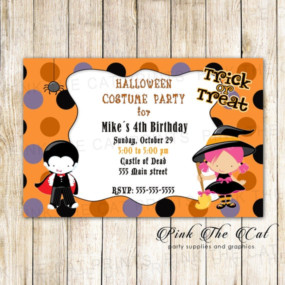 like this item - Kids Halloween Party Invite