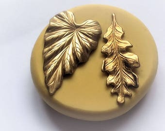 Leaf set Flexible silicone mold- fondant, wax, clay, resin, sweets, Chocolate and more