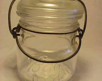 c1910-20s Ball Ideal Clear Half Pint Fruit Jar, 1/2 Pint Canning Jar , for Wedding Decor
