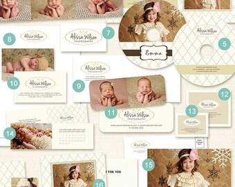 ON SALE 21 Pc Photography Marketing Set Templates Photography Branding Kit for Photographers - MM05