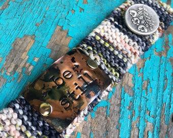 Be Still Blue Bracelet, Custom Hand Stamped Bible Verse Bracelet, Christian Jewelry, Teacher Gift
