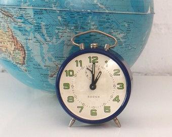 Vintage Alarm Clock - Blue clock - 60s