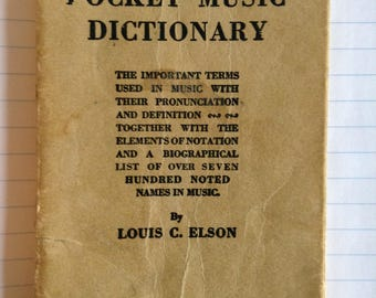 Elson's Pocket Music Dictionary 1909