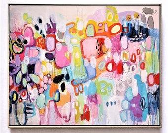 "70""x48""    painting, abstract painting, wall art, Jolina anthony"