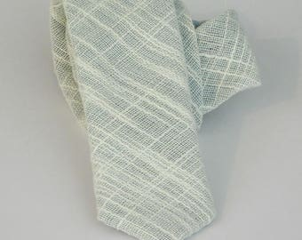Slate blue linenet textured neck tie standard or skinny