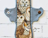 8 Inch Moderate Cloth Pad in Owl Portrait
