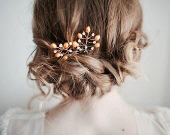 Wedding Hair Pins, Gold Pearl Hair Pins, Bridal Party Hair, Bridesmaids Hair Pins, Pearl Headpiece, Wedding Hair Pin, Gold Hair Pin