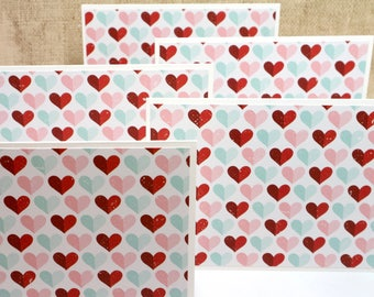 Note Cards- Valentine Note Cards- Card Sets- Stationery Set- Valentine Stationery- Set of 6 Cards- Friend Valentines- CoWorker Valentines