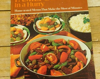 Betty Crocker's Family Dinners In A Hurry Cookbook First Printing 1970 Golden Press