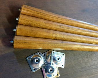 Mid Century Inspired Table Legs - Set of 4 with mounting hardware