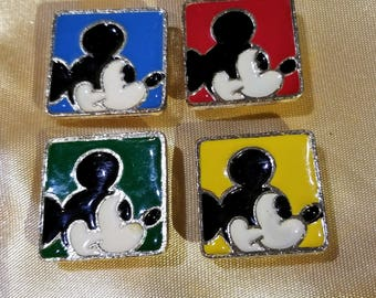 """10 Vintage 1"""" Mickey Mouse Button Covers"""