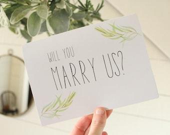 Will You Marry Us Card | Elegant Wedding Card | Wedding Card | Greeting Card | Officiant Card
